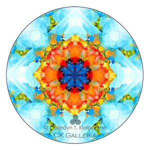 Mandala for contact webpage with logo